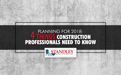 Planning for 2018: 4 Things Construction Professionals Need to Know
