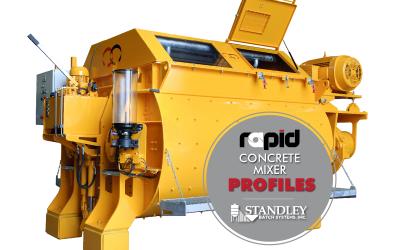 Rapid concrete mixer profiles