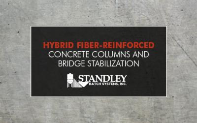 Hybrid fiber-reinforced concrete columns and bridge stabilization